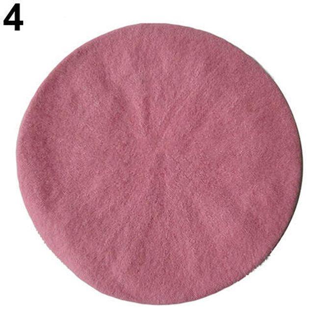 Dámský baret - Sytá Růžová 1