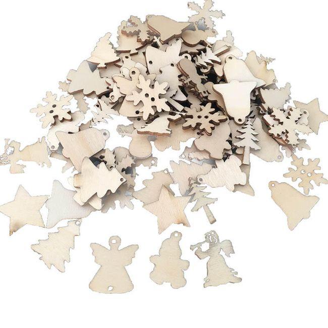 Novogodišnji drveni ukras - 50 komada 1
