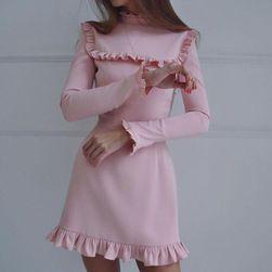 Rochie vintage cu volănașe