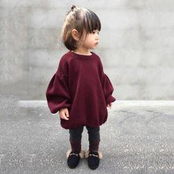 Dívčí svetr s balónovými rukávy - 3 velikosti