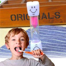 Presýpacie hodiny na čistenie zubov - ružové PD_1536254