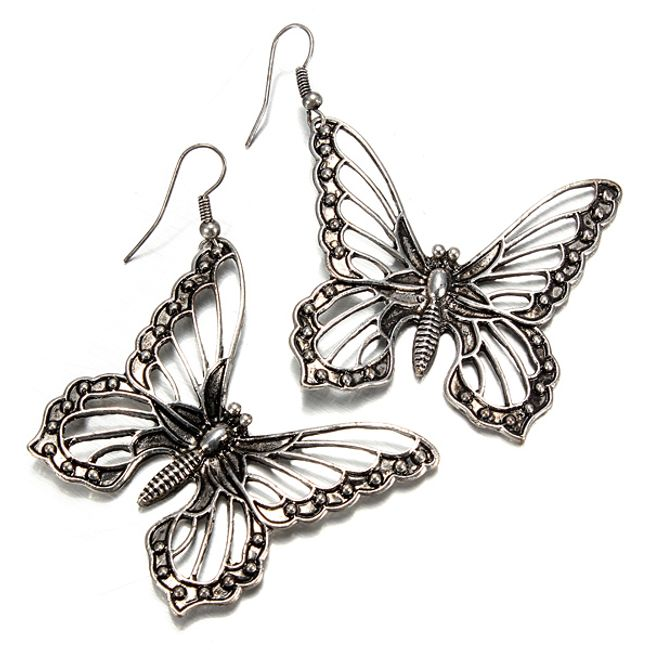Náušnice s raženým motivem motýla  1