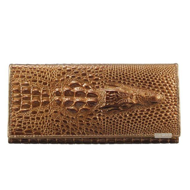 Női pénztárca 3D krokodillal - színek keveréke