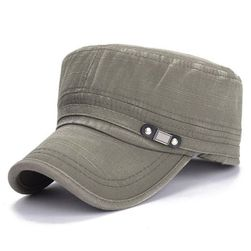Čepice pro muže s kšiltem - zelená barva