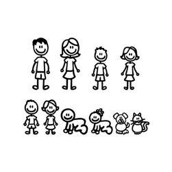 Naklejka samochodowa - rodzina
