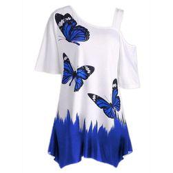 Dámské stylové triko s motýlky - 6 barev