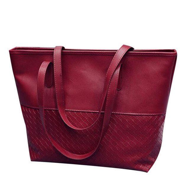 Dámská stylová kabelka z umělé kůže - Červená 1