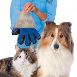 Szilikon kesztyű kutya és macska szőrzetre