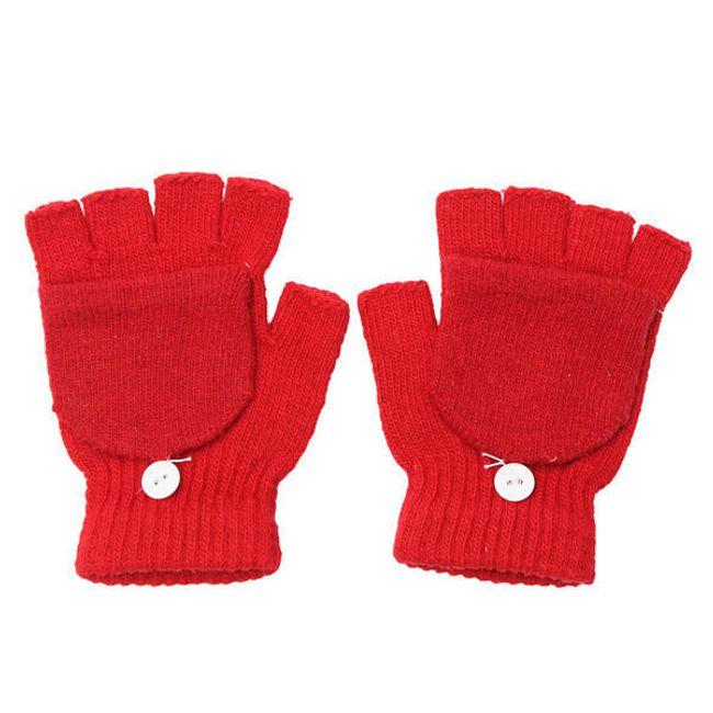 Mănuși practice unisex cu nasture 1