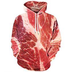 Tricou pentru bărbați cu imprimeu 3D de carne - 6 dimensiuni