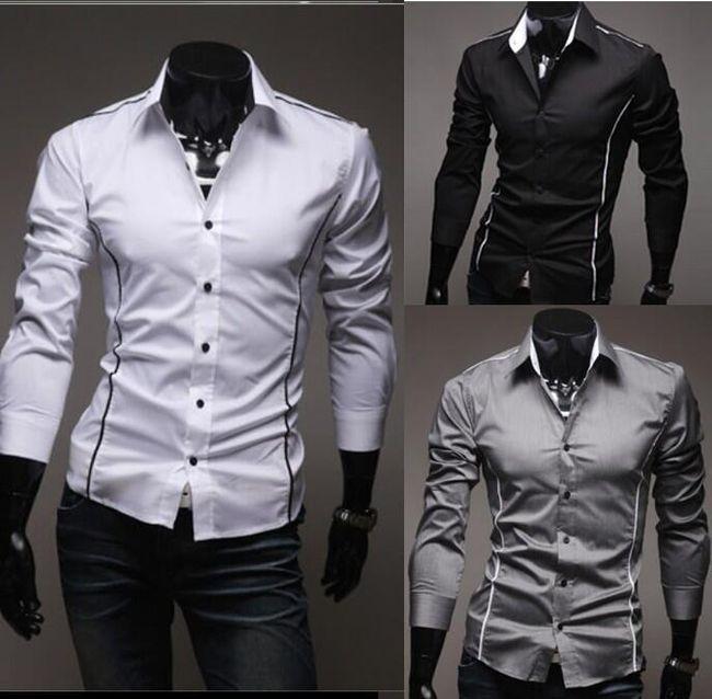Męska slim fit koszula - 3 kolory 1