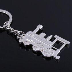 Locomotivă - breloc în culoarea argintie