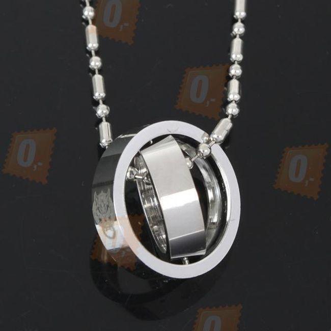 Náhrdelník se dvěma prsteny 1