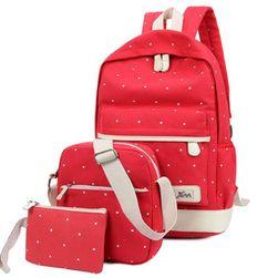 Dziewczęcy plecak z torebką i etui LS236