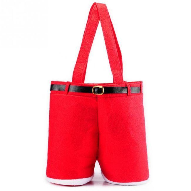 Božićna torbica u obliku pantalona Deda mraza 1