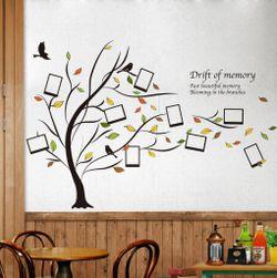 Autocolant inedit pentru perete - copac cu rame foto