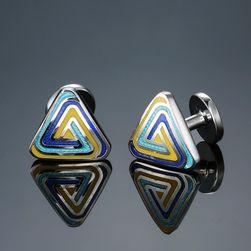 Manžetové knoflíčky s trianglovým motivem