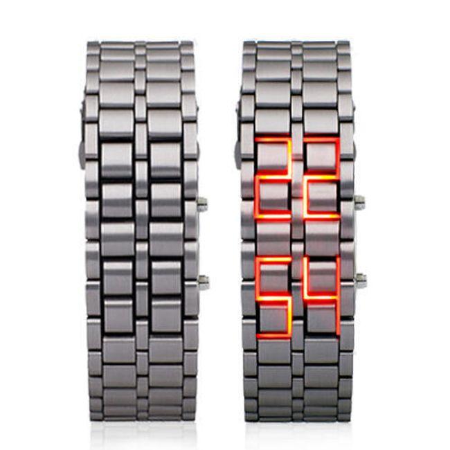 Stylowy, LED, cyfrowy zegarek na rękę w 3 wykonaniach 1