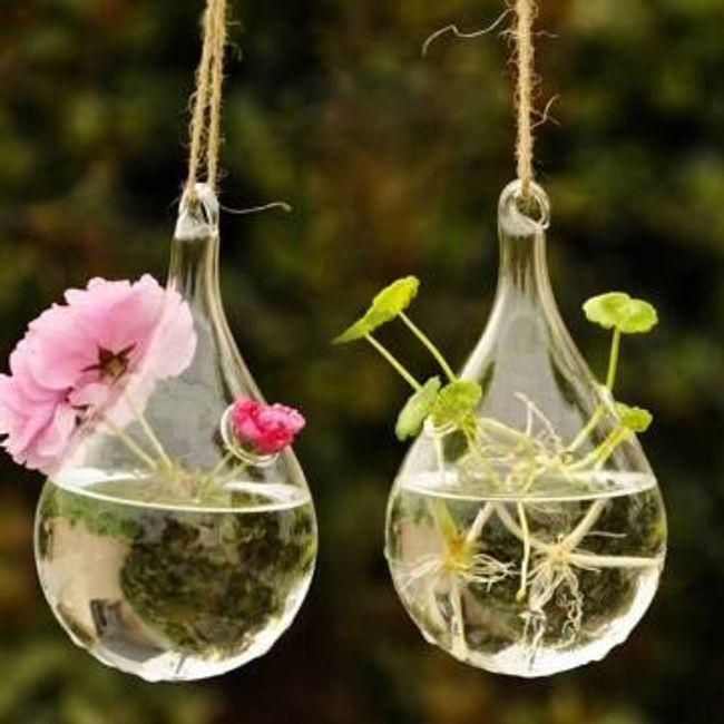 Vază de sticlă suspendată 1