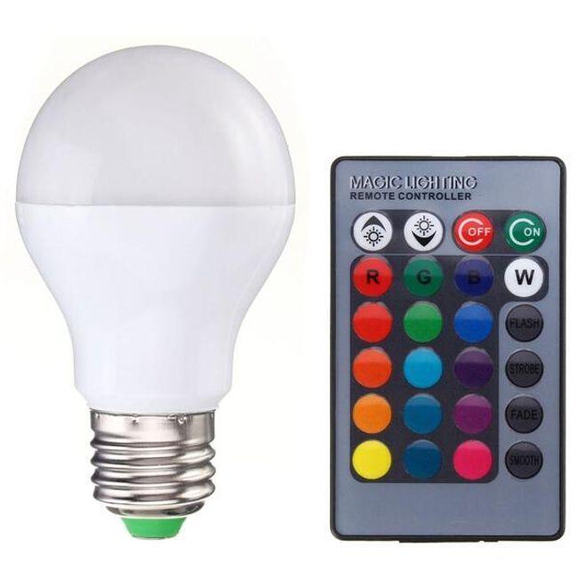 Zatemnljiva RGB LED žarnica z daljinskim upravljalnikom - E27 / B22 1