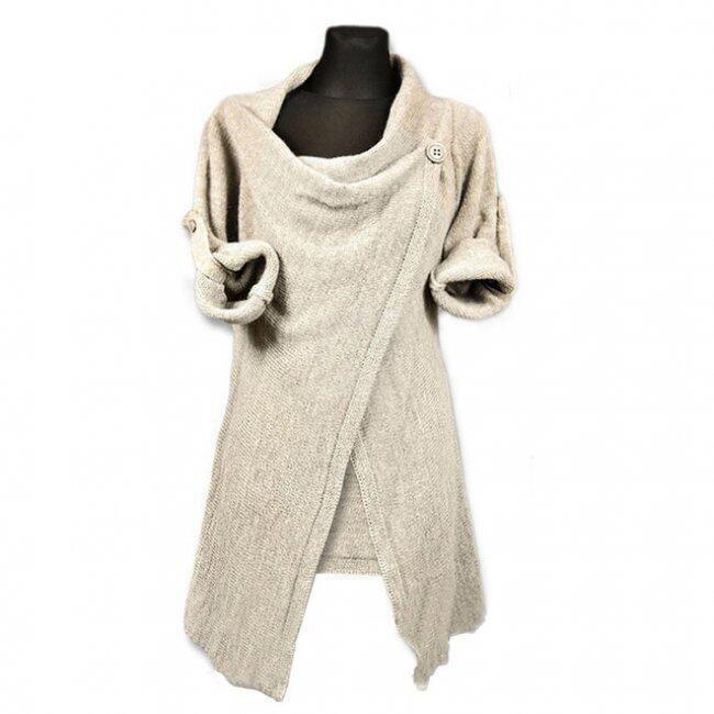 Moderní svetr pro dámy se zapínáním na knoflík - 2-velikost č. 5 1