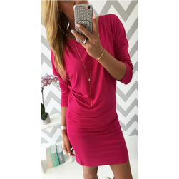Opuštena haljina dugih rukava - 5 boja