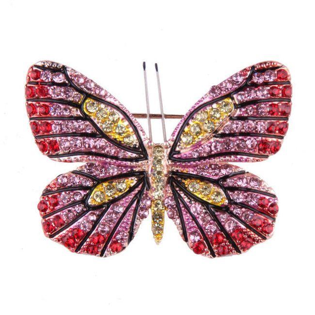 Kamínková brož ve tvaru motýla - 5 variant 1