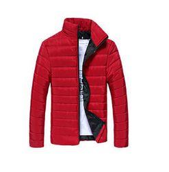 Pánska prešívaná bunda Gregor - 8 farieb Červená - veľkosť č. M