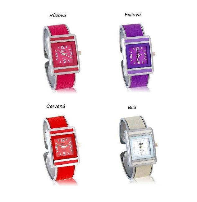 Dámské náramkové hodinky ve 4 barevných provedeních 1