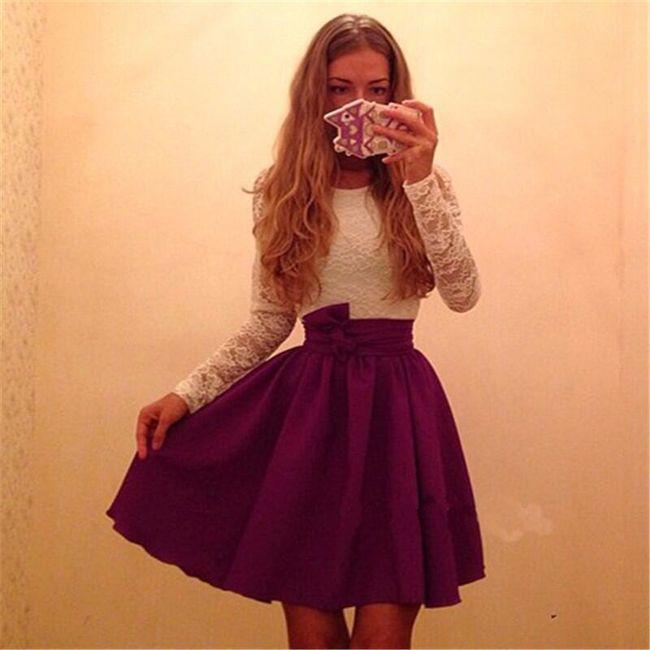 Платье с юбкой А-фасона 1