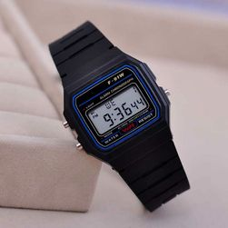 LED часовник в черно - унисекс