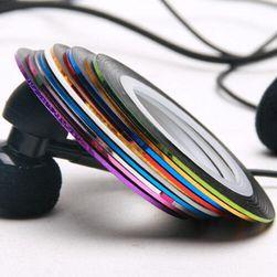 10 színes szalag a köröm díszítéséhez