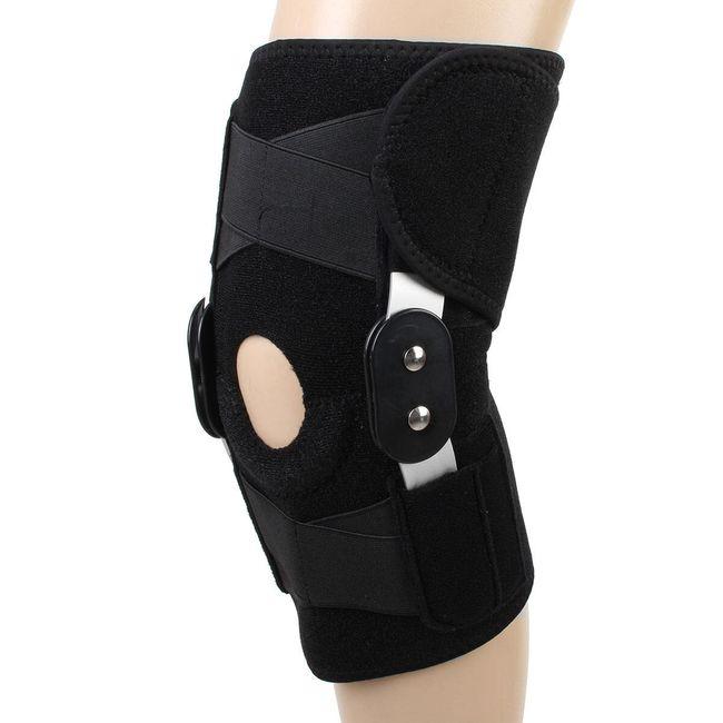 Opornica za koleno z aluminijasto ojačitvijo - črna 1