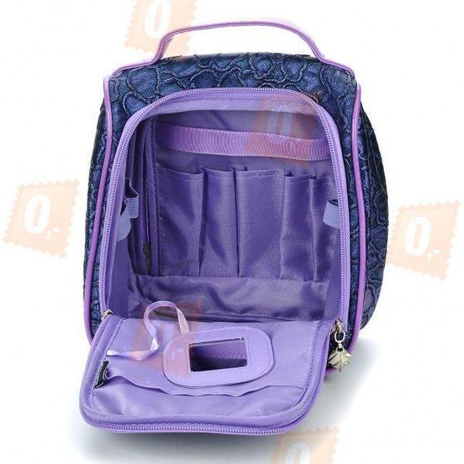 Fialová cestovní kosmetická taška 1