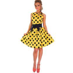 Ретро-платье в горошек- 3 расцветки
