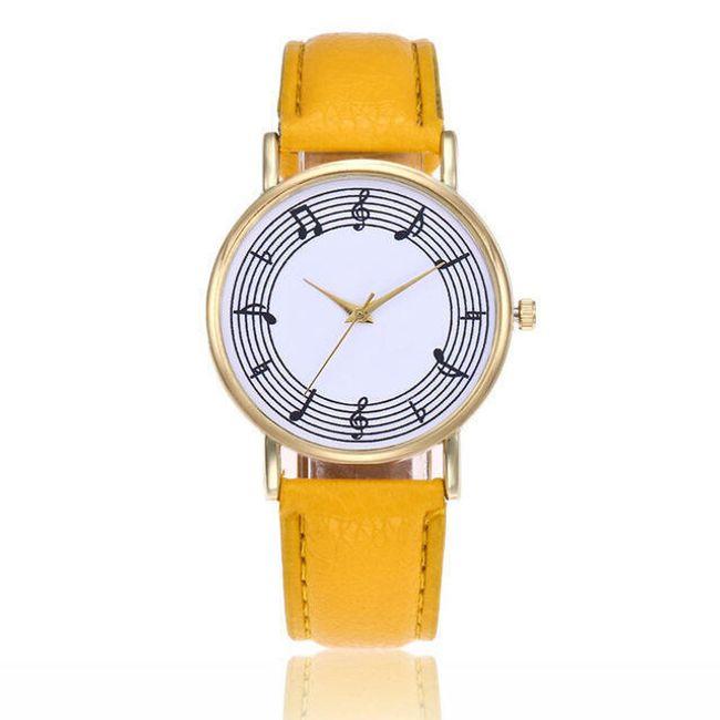 Женские наручные часы с мотивом нот- разные расцветки 1