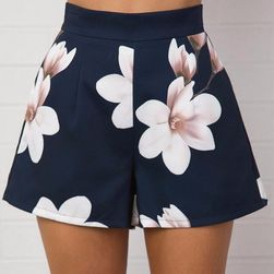 Květinové šortky s vysokým pasem - 4 velikosti