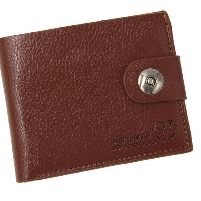 Moška denarnica na gumb 1