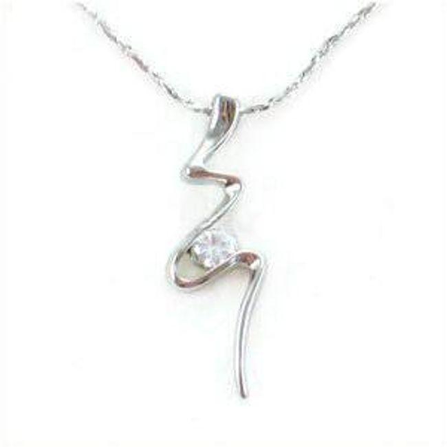 Elegantní náhrdelník s kamínkem 1
