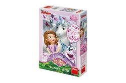 Puzzle diamant Sofia și unicorn 33x47, lipici și pietre 200 piese în cutie 20x29x6cm RM_21422162