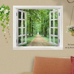 Naklejka na ścianę - okno z widokiem w przyrodę