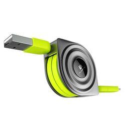 Navíjecí micro USB kabel se dvěma různými koncovkami - 2 barvy