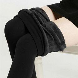 Zateplené dámske legíny - čierna, veľkosť 3