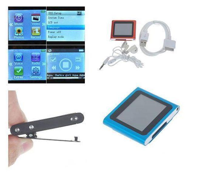 MP4 přehrávač s dotykovým 1.8'' LCD displejem s 4GB pamětí a FM rádiem - 4 barvy 1