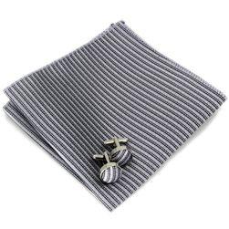 Zsebkendő mandzsettagombokkal - 11 szín