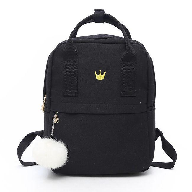 Lány hátizsák macskával és pompommal - 4 szín