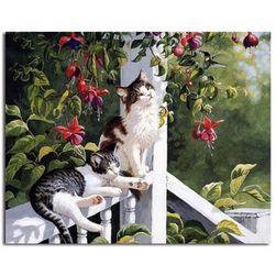 Malování podle čísel - kočičky na verandě