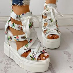 Damskie sandały na koturnie Mexxa