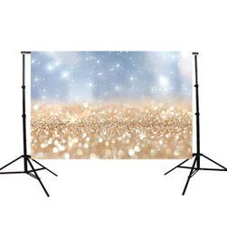 Fotografické pozadí s motivem zlatých třpytek  - 150 x 90 cm