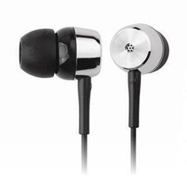 Stereo sluchátka Kanen - špunty, černé 1